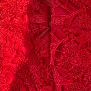 C. Luce Skirts - Red lace skirt